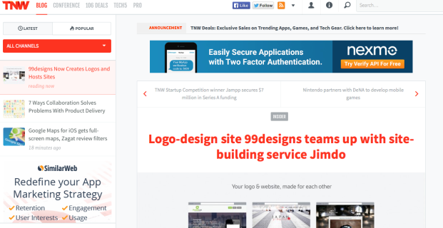 99designs in The Next Web