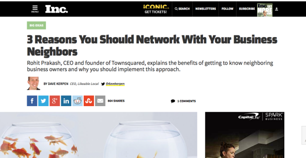 Townsquared featured in Inc.