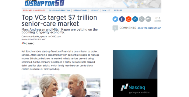 Aging2.0 and Lively in CNBC