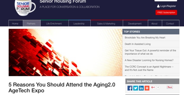 Aging2.0 in Senior Housing Forum