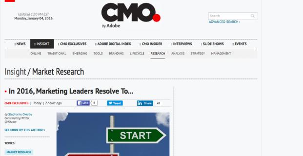 Healthline in CMO.com