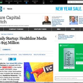 Healthline in Wall Street Journal
