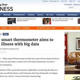 Kinsa in San Jose Mercury News