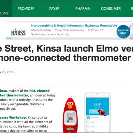 Kinsa in MobiHealthNews