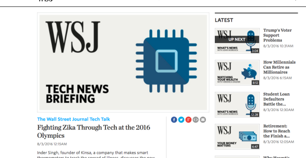 Kinsa in The Wall Street Journal