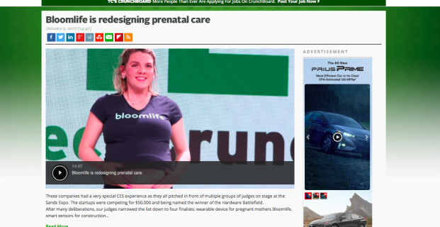 Bloomlife in TechCrunch
