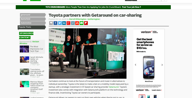Getaround in TechCrunch