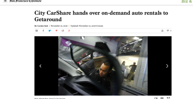 Getaround in the San Francisco Chronicle