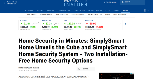 SimplySmart Home in Business Insider
