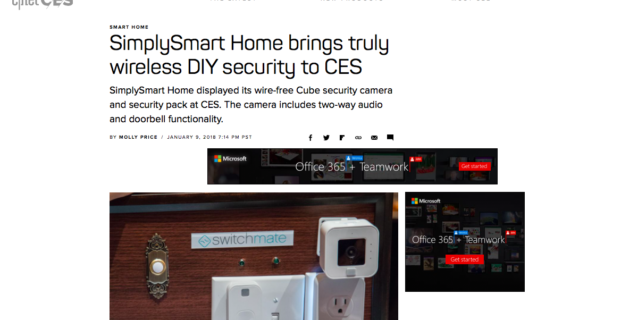 SimplySmart Home in CNET