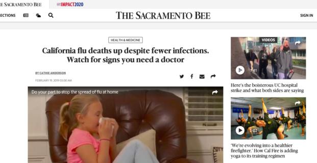 Kinsa in The Sacramento Bee