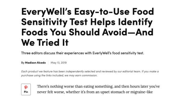 EverlyWell on RealSimple.com
