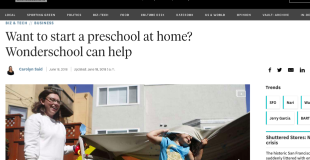 Wonderschool in San Francisco Chronicle