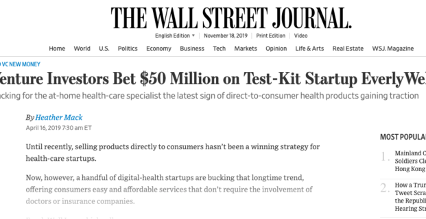 EverlyWell in the Wall Street Journal