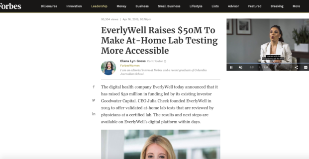 EverlyWell in Forbes
