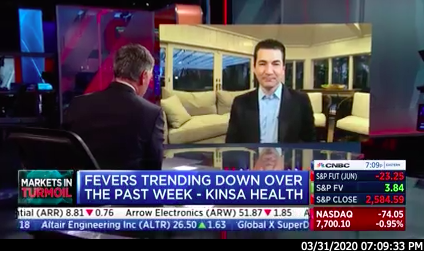 Kinsa on CNBC News