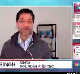 Kinsa's CEO on MSNBC