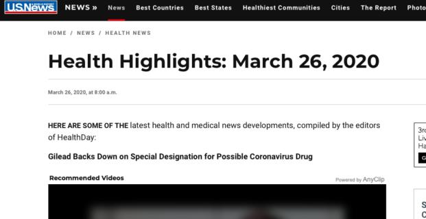 Kinsa in U.S. News & World Report