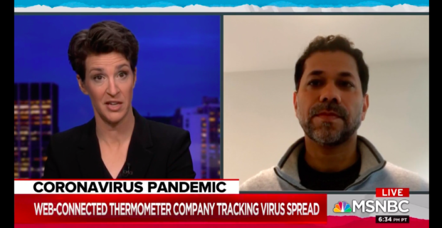 Kinsa's CEO, Inder Singh, on The Rachel Maddow Show