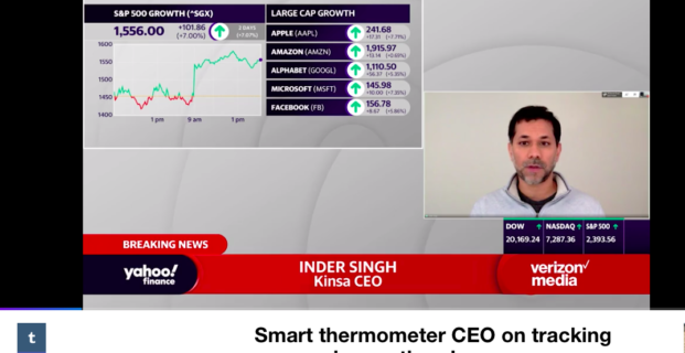 Kinsa's CEO on Yahoo! Finance