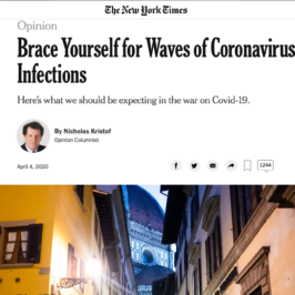 Kinsa in The New York Times
