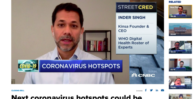 Kinsa's CEO, Inder Singh, on CNBC
