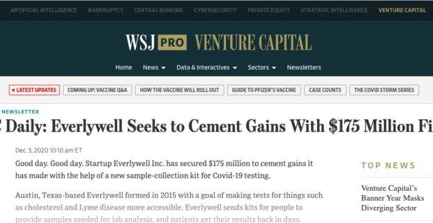 Everlywell in Wall Street Journal